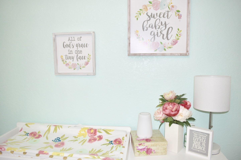 Baby Girl Floral Nursery
