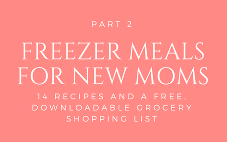 Part 2: Freezer Meals for New Moms